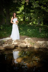 reflection of bridal beauty